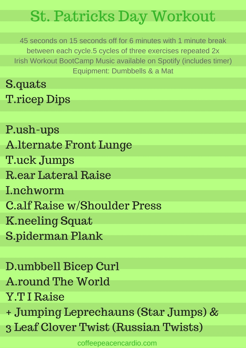 St. Patricks Day Workout