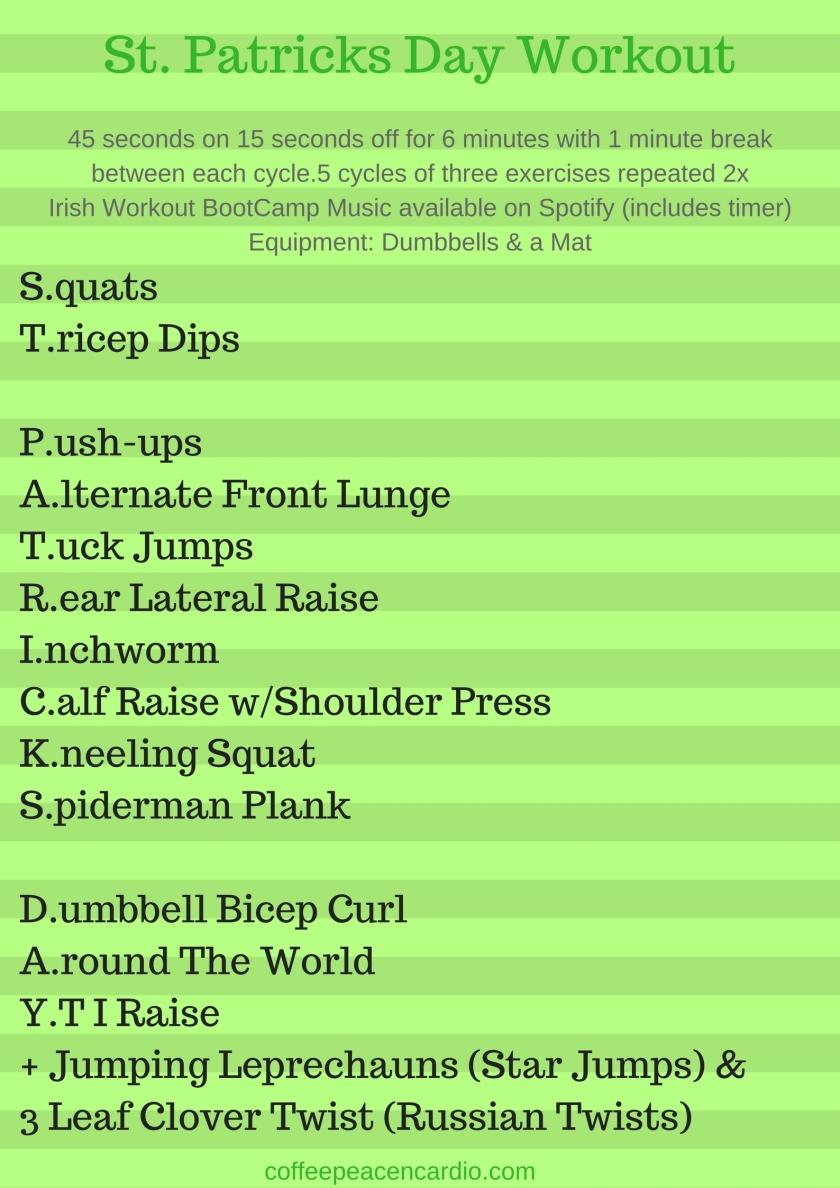St. Patricks Day Workout