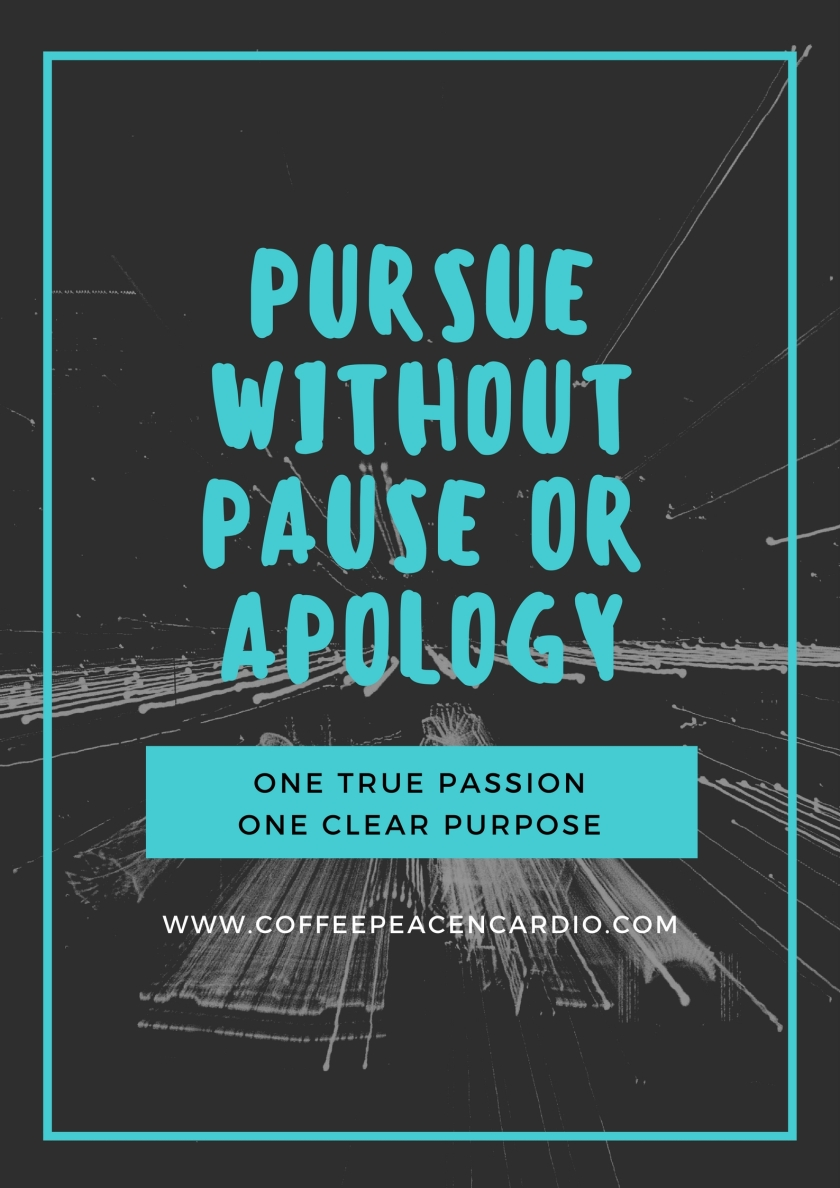 Pursue without Pause or Apology