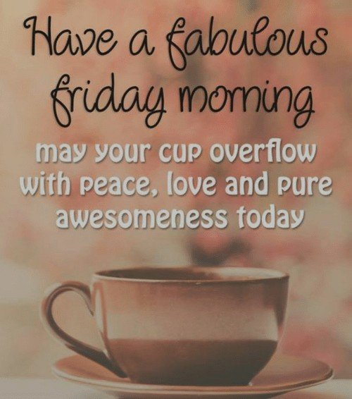 Happy Fabulous Friday Coffee Peace N Cardio